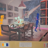 Nana Bastrup & Matvey Slavin - Laufbild [Kugelsicher] 50x60 cm multimediale Collage 2016