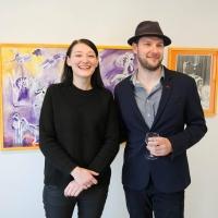 Nana Bastrup & Matvey Slavin - Ausstellungseröffnung in Huset I Asnæs in Dänemark 2016