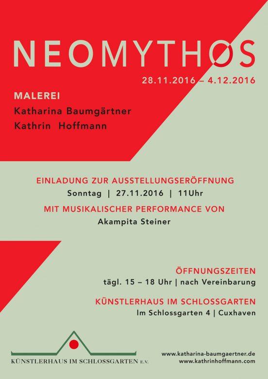 MEOMYTHOS - Katharina Baumgärtner und Kathrin Hoffmann - Ausstellung vom 28.11.-04.12.2016 - Künstlerhaus im Schlossgarten in Cuxhaven