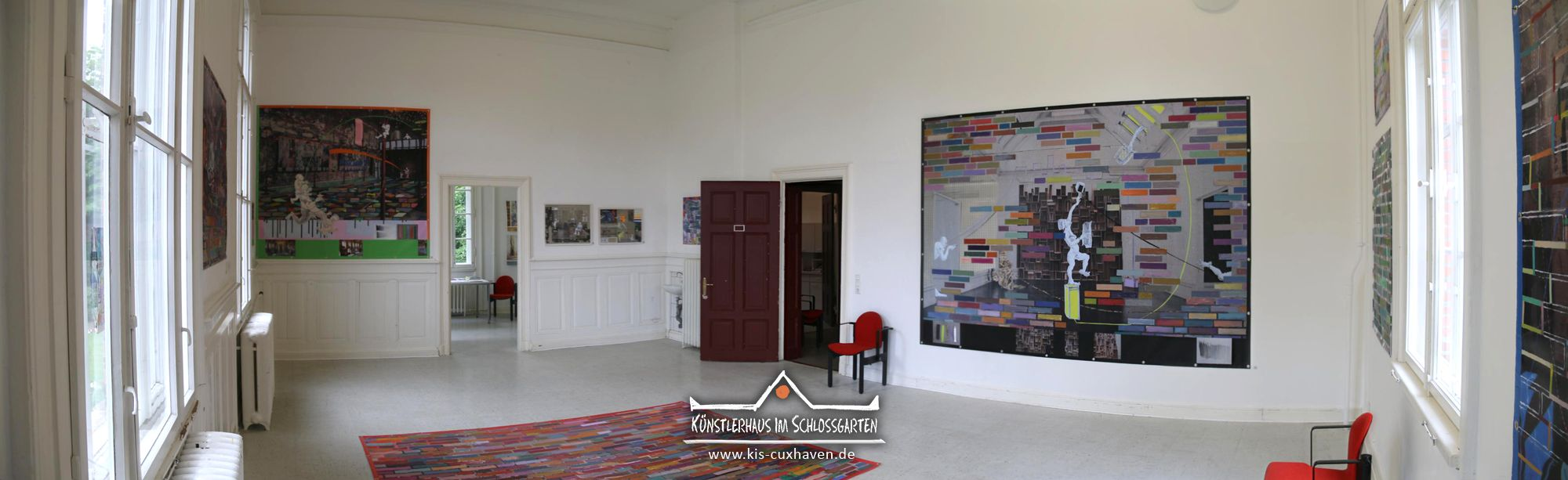 Nana Bastrup & Matvey Slavin - Multimediale Collagen - Ausstellungseröffnung am 22. Mai 2016 im Künstlerhaus im Schlossgarten in Cuxhaven