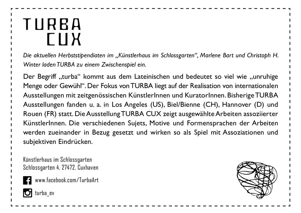 2017_TURBA-CUX_Ausstellung-im-Kuenstlerhaus-im-Schlossgarten-in-Cuxhaven