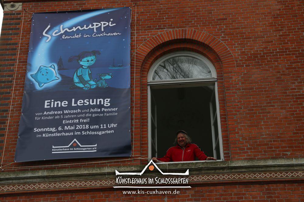 Schnuppi landet in Cuxhaven - Lesung für Kinder im Künstlerhaus im Schlossgarten in Cuxhaven