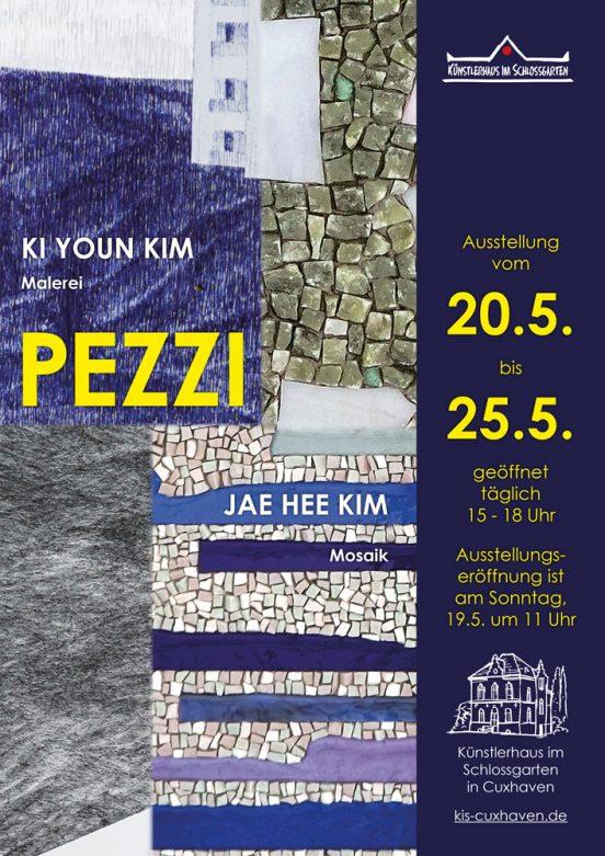 """Ausstellung """"PEZZI"""" von KI YOUN KIM (Malerei) und JAE HEE KIM (Mosaik) vom 20.05.-25.05.2019 im Künstlerhaus im Schlossgarten in Cuxhaven"""